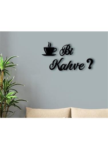 Bk Bk Home Bi Kahve? Tasarımlı Ahşap Duvar Yazısı Renkli
